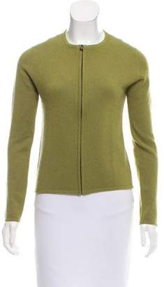 Hermes Cashmere Zip-Up Cardigan
