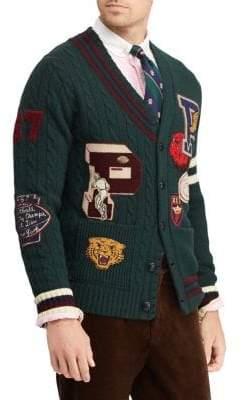 Polo Ralph Lauren Wool Varsity Cardigan