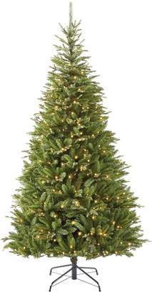 Glucksteinhome 7ft Rosseau Tree with 400 Warmwhite LED Lights and 2152 PE Mixed Tips
