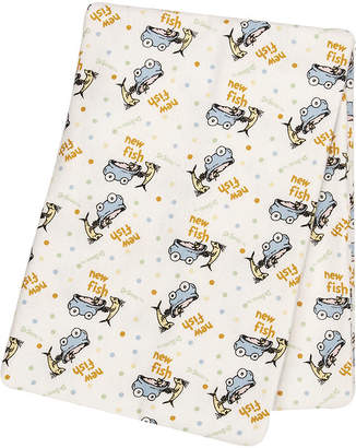 Trend Lab TREND LAB, LLC Dr. Suess One Fish, Two Fish Deluxe Swaddle Blanket