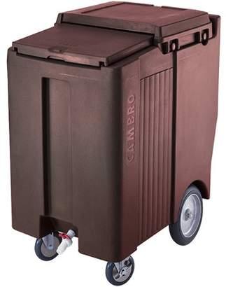 """Cambro Tall Ice Bin / Caddy, 175 Lb. Capacity, 10"""" Easy Wheels, Dark Brown, ICS175TB-131"""