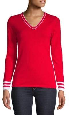 Tommy Hilfiger Contrast Striped Cotton Sweater
