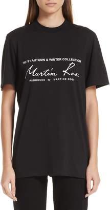 Martine Rose Classic Logo Tee