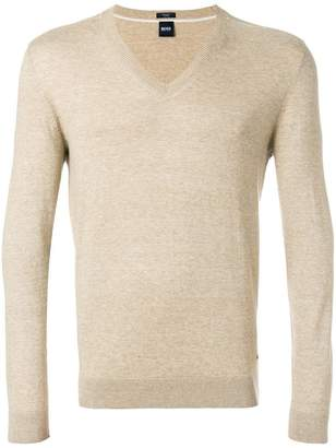 HUGO BOSS fine knit V-neck pullover