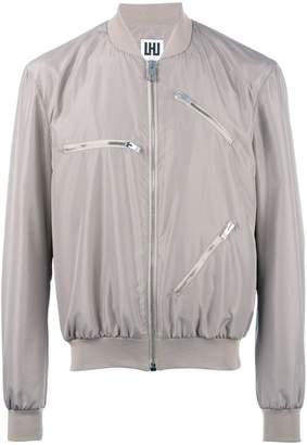 Les Hommes Urban multi-zippers bomber jacket