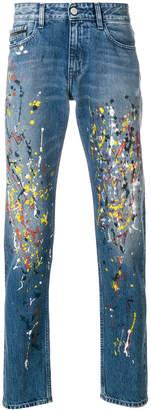 Calvin Klein Jeans paint splatter slim fit jeans