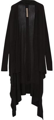 Rick Owens - Draped Wool Cardigan - Black $660 thestylecure.com