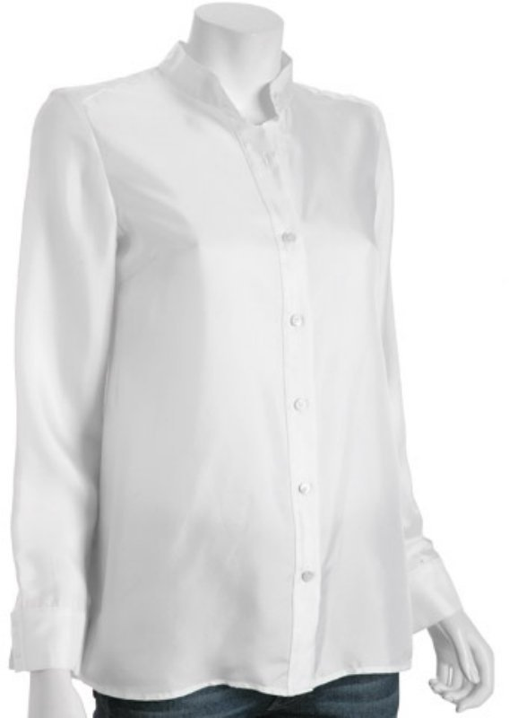 Chaiken white satin 'Flare Back' shirt