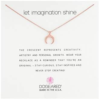 Dogeared Let Imagination Shine Crescent Chain Necklace