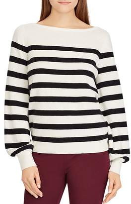 Ralph Lauren Striped Cashmere Blouson-Sleeve Sweater - 100% Exclusive