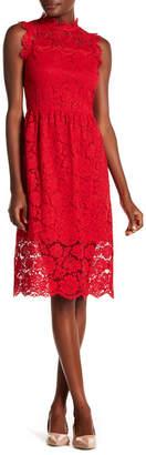 Kate Spade Floral Lace Midi Dress