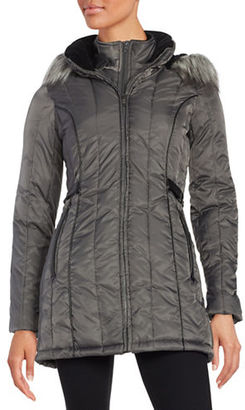 Nautica Faux Fur-Hooded Puffer Coat $220 thestylecure.com