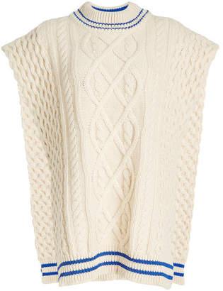 Maison Margiela Sleeveless Knit Cape