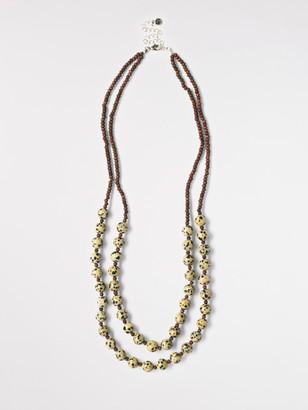 White Stuff Double Layer Safari Necklace