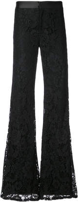 Alexis flared lace-embroidered trousers
