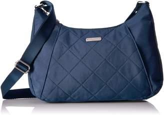 Baggallini Slim Crossbody Hobo Bag Lightweight Quilted Nylon Organizational Pockets
