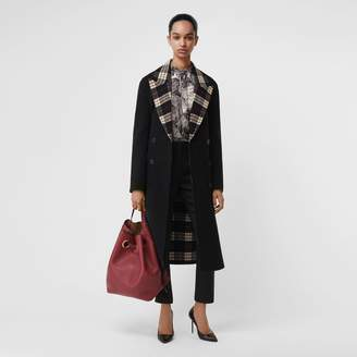 Burberry Check-lined Wool Cashmere Double-breasted Coat