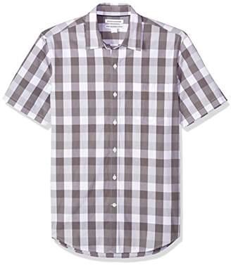 Amazon Essentials Men's Slim-Fit Short-Sleeve Check Shirt
