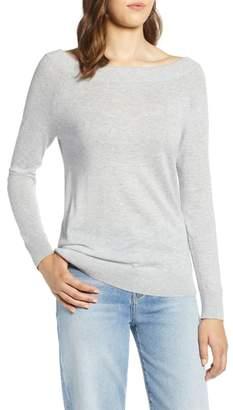Halogen Convertible Bateau Neck Sweater