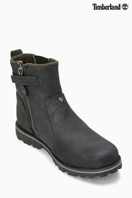 Next Boys Timberland Black Smooth Asphalt Trail Chelsea Boot