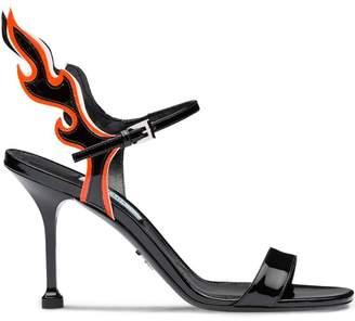 Prada flame detail sandals