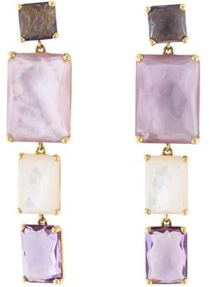 Ippolita 18K Mother of Pearl, Amethyst & Iolite Rock Candy Drop Earrings