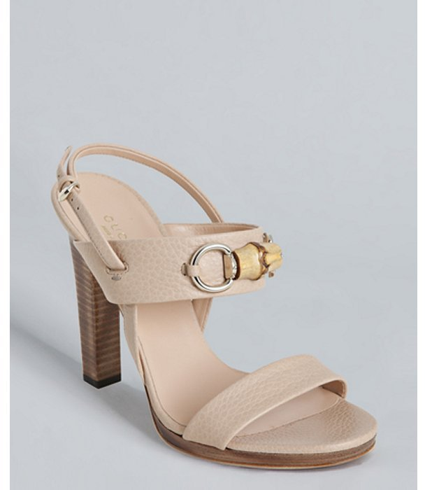 Gucci sand leather 'Miss Bamboo' sandals