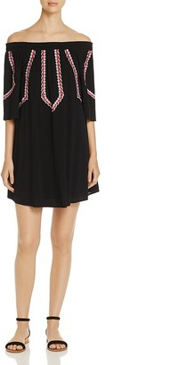 Design History Off The Shoulder Embroidered Dress $138 thestylecure.com