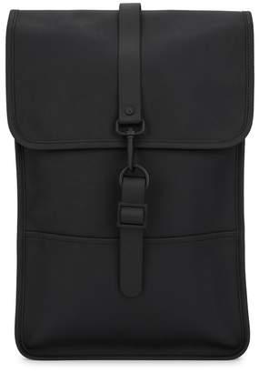 Rains Mini Black Rubberised Backpack