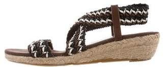 Jean-Michel Cazabat Raffia Wedge Sandals