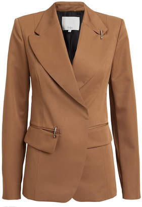 Tibi Recycled Tech Twill Peak Lapel Blazer