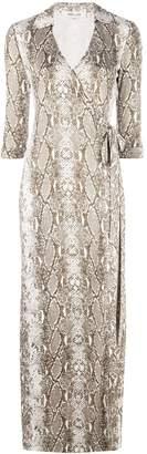 Diane von Furstenberg Python print silk dress