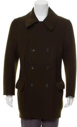 Issey Miyake Double-Breasted Wool Peacoat