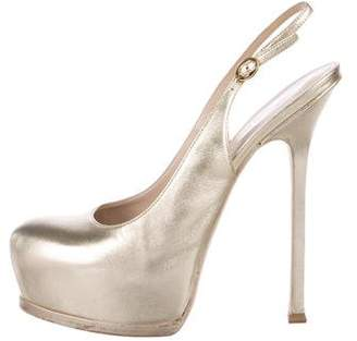 Saint Laurent Metallic Platform Pumps