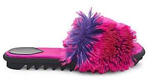 Dries Van Noten Women's Faux-Fur Slides Sandals