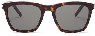 Saint Laurent D Frame Tortoiseshell Acetate Sunglasses - Mens - Tortoiseshell