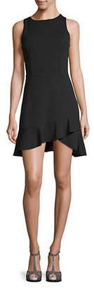 Lord & Taylor DESIGN LAB Faux Wrap Skirt Tank Dress