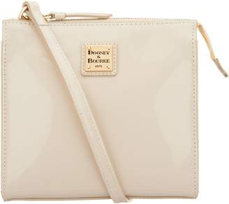 Dooney & Bourke Patent Leather North/South Crossbody Handbag- Janine