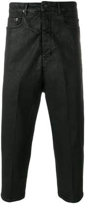 Rick Owens waxed cropped jeans