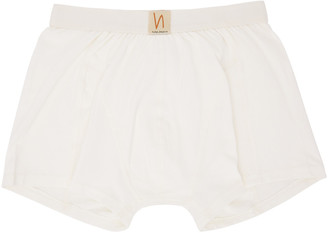 Nudie Jeans Off-White Boxer Briefs $35 thestylecure.com