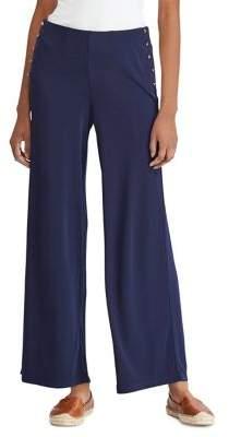Lauren Ralph Lauren Petite Stretch Jersey Wide-Leg Pants