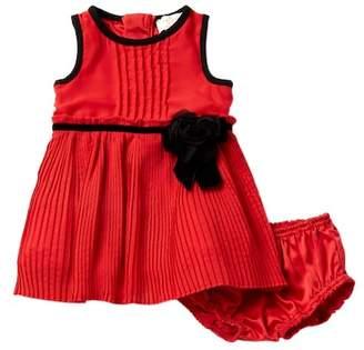 Kate Spade Pleated Chiffon Dress & Bloomers (Baby Girls)