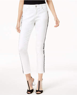 INC International Concepts I.n.c. Petite Side-Striped Skinny Ankle Jeans, Create for Macy's