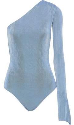 Alix One-shoulder Gathered Crepe Bodysuit