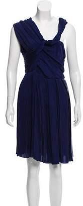 AllSaints Sleeveless Pleated Cocktail Dress