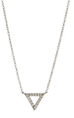 Carriere Sterling Silver Triangle Diamond Pendant Necklace - 0.08 ctw