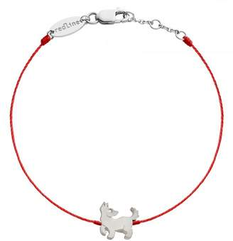 Redline Dog Red Bracelet - White Gold