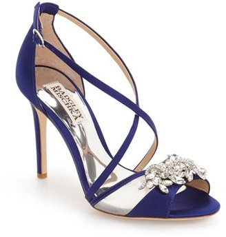 Women's Badgley Mischka 'Gala' Crystal Embellished Evening Sandal $215 thestylecure.com