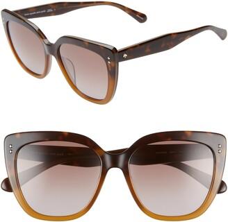 Kate Spade 55mm Kiyannas Cat Eye Sunglasses