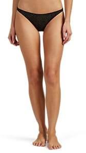 Onia Women's Ashley Metallic-Dot Bikini Bottom - Black